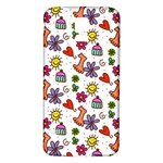 Doodle Pattern Samsung Galaxy S5 Back Case (White) Front