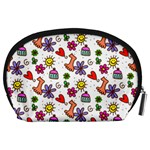 Doodle Pattern Accessory Pouches (Large)  Back