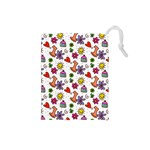 Doodle Pattern Drawstring Pouches (Small)  Front