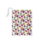 Doodle Pattern Drawstring Pouches (Small)  Back