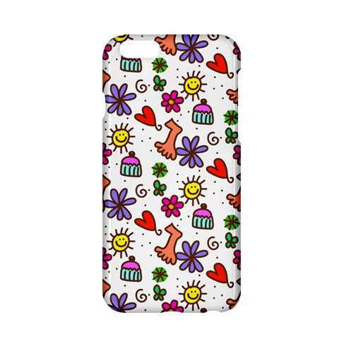 Doodle Pattern Apple iPhone 6/6S Hardshell Case