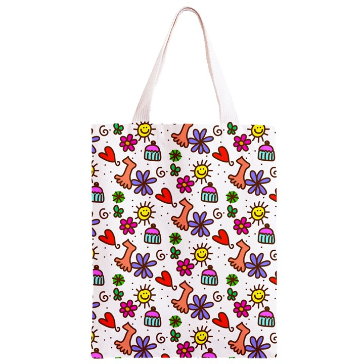 Doodle Pattern Classic Light Tote Bag