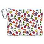 Doodle Pattern Canvas Cosmetic Bag (XXL) Front
