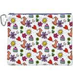 Doodle Pattern Canvas Cosmetic Bag (XXXL) Front