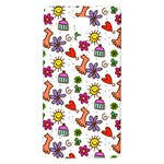 Doodle Pattern Galaxy Note 4 Back Case Front