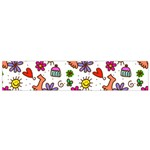 Doodle Pattern Flano Scarf (Small) Back
