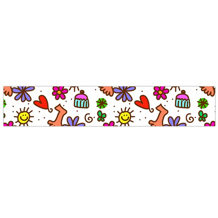 Doodle Pattern Flano Scarf (Large)
