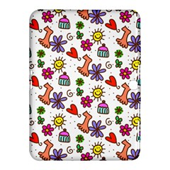 Doodle Pattern Samsung Galaxy Tab 4 (10.1 ) Hardshell Case