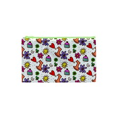 Doodle Pattern Cosmetic Bag (XS)