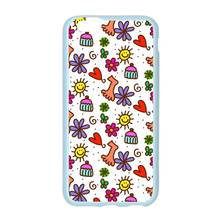 Doodle Pattern Apple Seamless iPhone 6/6S Case (Color)