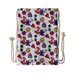 Doodle Pattern Drawstring Bag (Small) Front
