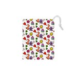 Doodle Pattern Drawstring Pouches (XS)  Front