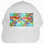 Colorful Mosaic  White Cap Front