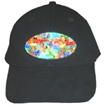 Colorful Mosaic  Black Cap Front