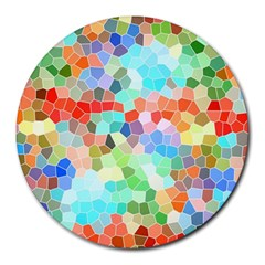 Colorful Mosaic  Round Mousepads