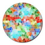 Colorful Mosaic  Round Mousepads Front
