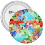 Colorful Mosaic  3  Buttons Front