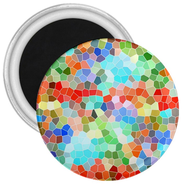 Colorful Mosaic  3  Magnets