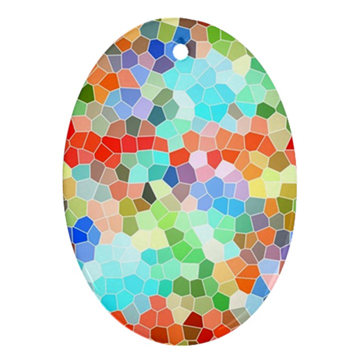 Colorful Mosaic  Ornament (Oval)