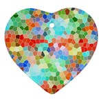 Colorful Mosaic  Ornament (Heart)  Front