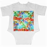 Colorful Mosaic  Infant Creepers Back