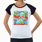 Colorful Mosaic  Women s Cap Sleeve T Front