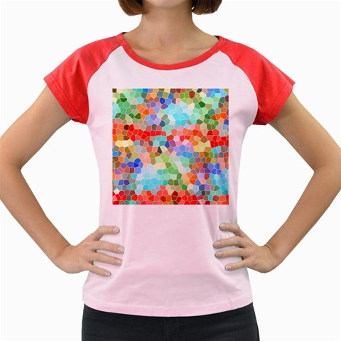 Colorful Mosaic  Women s Cap Sleeve T-Shirt