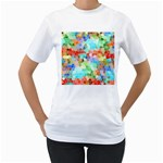Colorful Mosaic  Women s T-Shirt (White) (Two Sided) Front