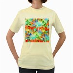 Colorful Mosaic  Women s Yellow T-Shirt Front