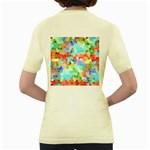 Colorful Mosaic  Women s Yellow T-Shirt Back