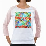 Colorful Mosaic  Girly Raglans Front