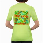 Colorful Mosaic  Women s Green T-Shirt Back