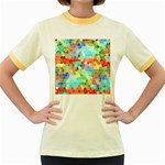Colorful Mosaic  Women s Fitted Ringer T-Shirts Front