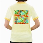 Colorful Mosaic  Women s Fitted Ringer T-Shirts Back