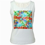 Colorful Mosaic  Women s White Tank Top Front
