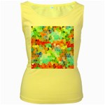 Colorful Mosaic  Women s Yellow Tank Top Front