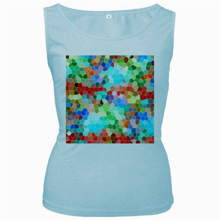 Colorful Mosaic  Women s Baby Blue Tank Top