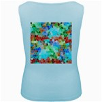 Colorful Mosaic  Women s Baby Blue Tank Top Back