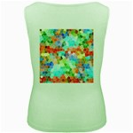 Colorful Mosaic  Women s Green Tank Top Back