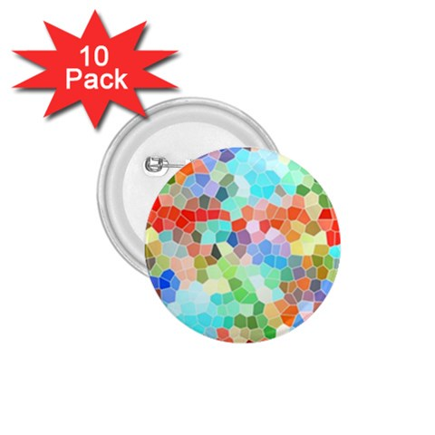 Colorful Mosaic  1.75  Buttons (10 pack)