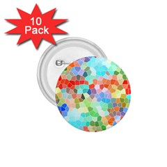 Colorful Mosaic  1 75  Buttons (10 Pack)