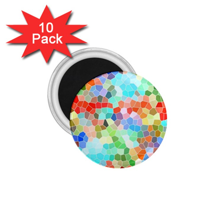 Colorful Mosaic  1.75  Magnets (10 pack)