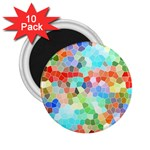 Colorful Mosaic  2.25  Magnets (10 pack)  Front