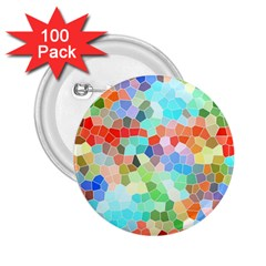 Colorful Mosaic  2.25  Buttons (100 pack)