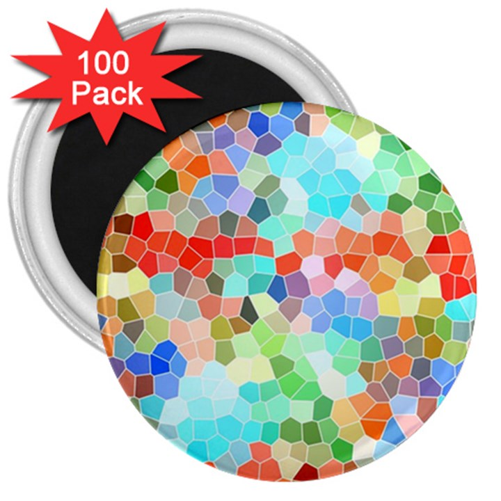 Colorful Mosaic  3  Magnets (100 pack)