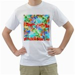 Colorful Mosaic  Men s T-Shirt (White) (Two Sided) Front