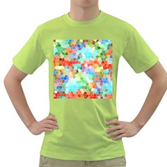 Colorful Mosaic  Green T Shirt
