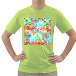 Colorful Mosaic  Green T-Shirt Front