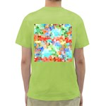 Colorful Mosaic  Green T-Shirt Back
