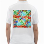 Colorful Mosaic  Golf Shirts Back